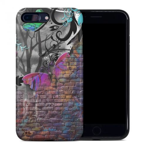 Butterfly Wall iPhone 8 Plus Hybrid Case