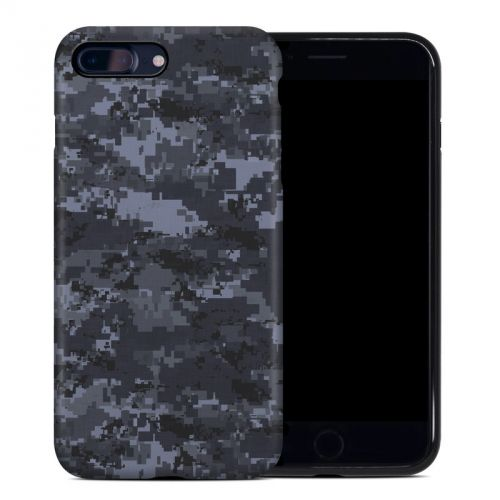Digital Navy Camo iPhone 8 Plus Hybrid Case