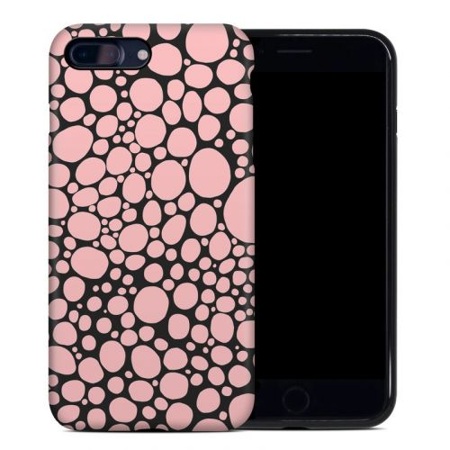 Pink Bubbles iPhone 8 Plus Hybrid Case