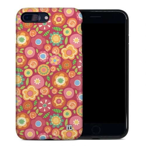 Flowers Squished iPhone 7 Plus Hybrid Case