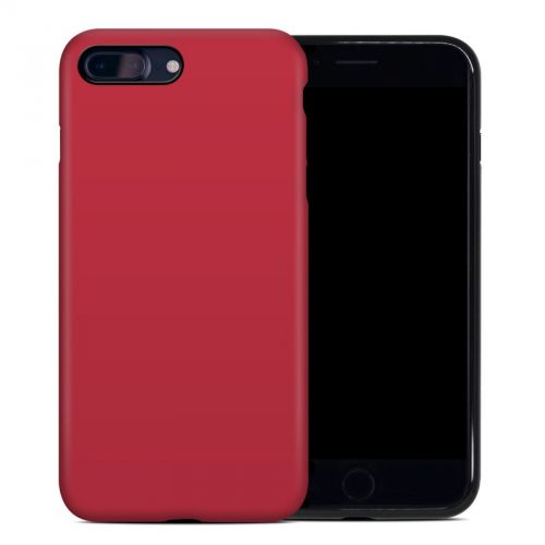 Solid State Red iPhone 8 Plus Hybrid Case