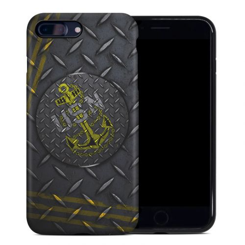 USN Diamond Plate iPhone 8 Plus Hybrid Case