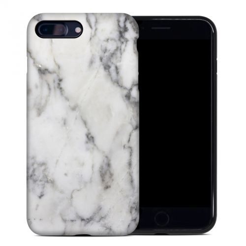 White Marble iPhone 8 Plus Hybrid Case