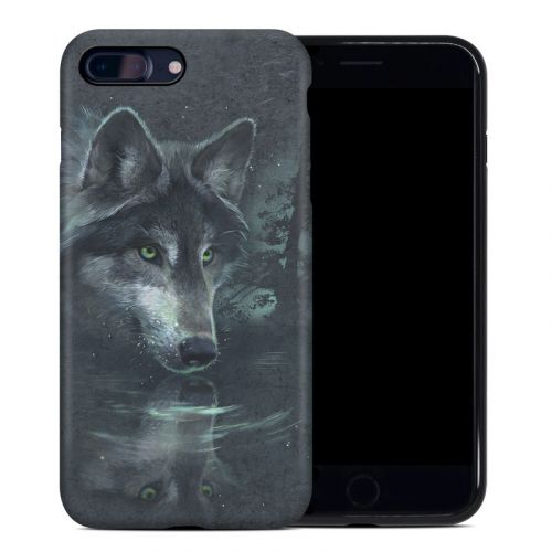 Wolf Reflection iPhone 8 Plus Hybrid Case