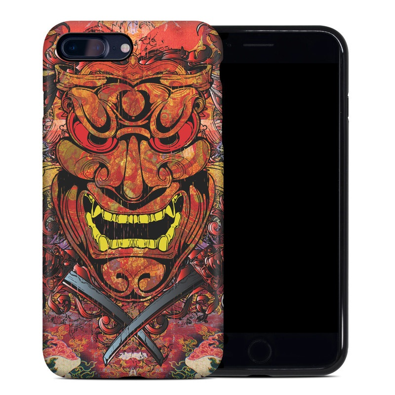 iPhone 8 Plus Hybrid Case design of Art, Psychedelic art, Visual arts, Illustration, Fictional character, Demon with red, orange, yellow colors