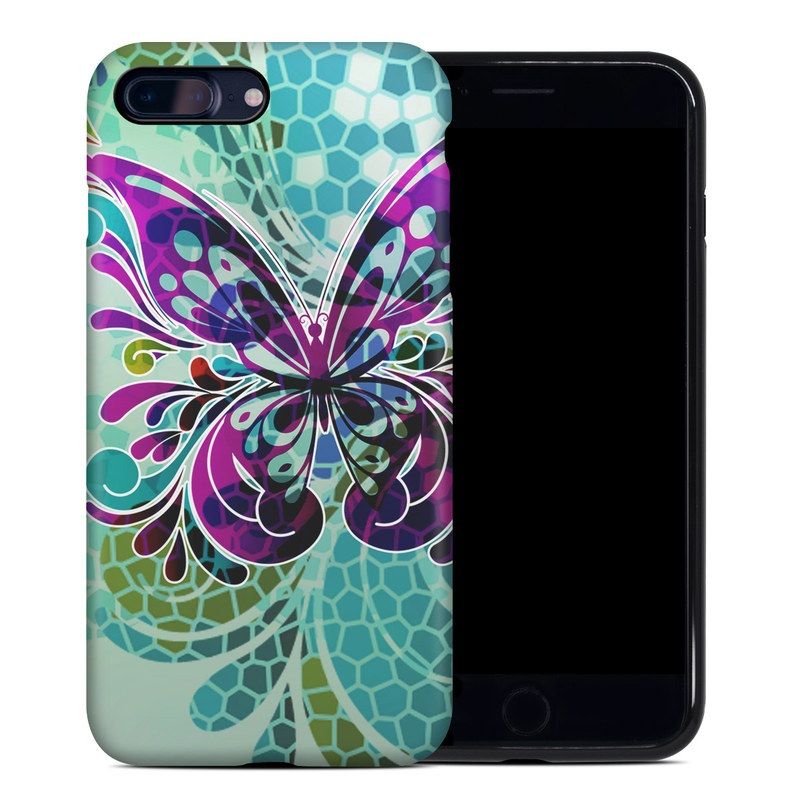 Butterfly Glass iPhone 8 Plus Hybrid Case