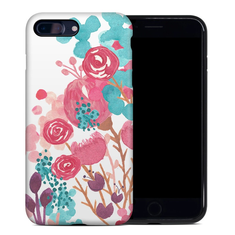 Blush Blossoms iPhone 8 Plus Hybrid Case