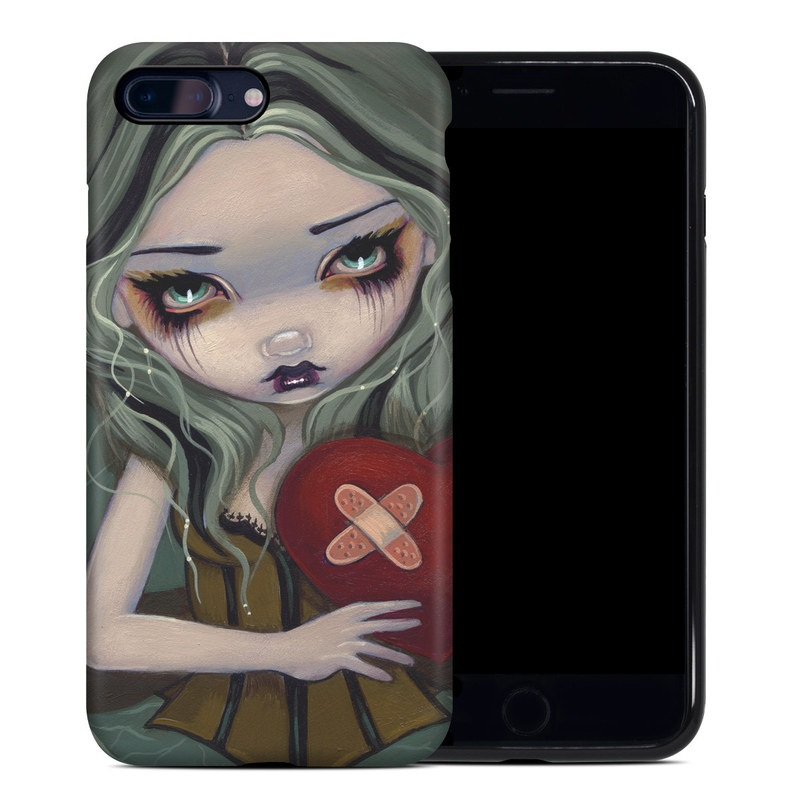 iPhone 8 Plus Hybrid Case design of Cartoon, Illustration, Art, Nose, Cheek, Lip, Organ, Fictional character, Animated cartoon, Mouth with green, red, brown, yellow, blue colors