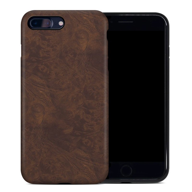 Dark Burlwood iPhone 8 Plus Hybrid Case