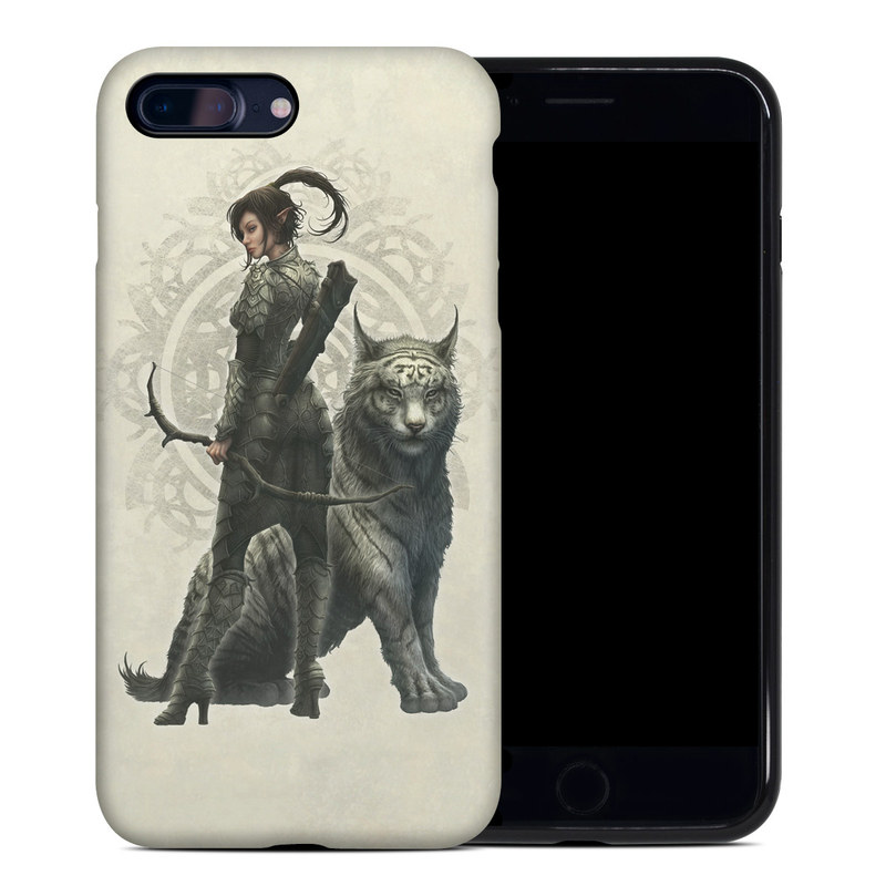 iPhone 8 Plus Hybrid Case design of Illustration, Fictional character, Drawing, Woman warrior, Art, Mythology, Sketch with gray, black, pink, yellow, green colors