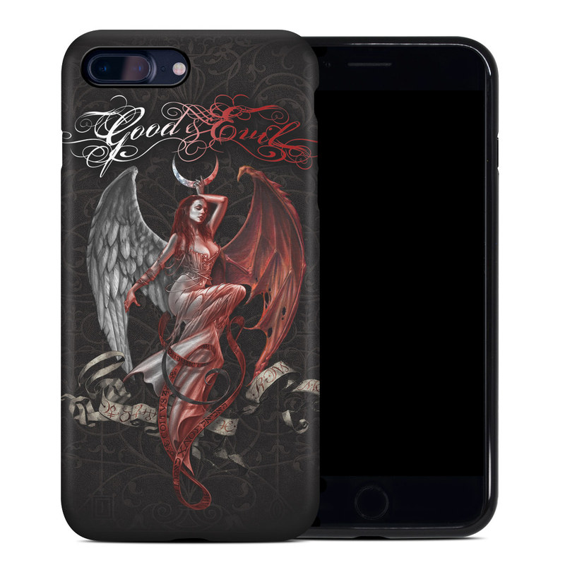 iPhone 8 Plus Hybrid Case design of Illustration, Fictional character, Graphic design, Supernatural creature, Demon, Cg artwork, Art, Mythology, Angel, Wing with black, white, red colors