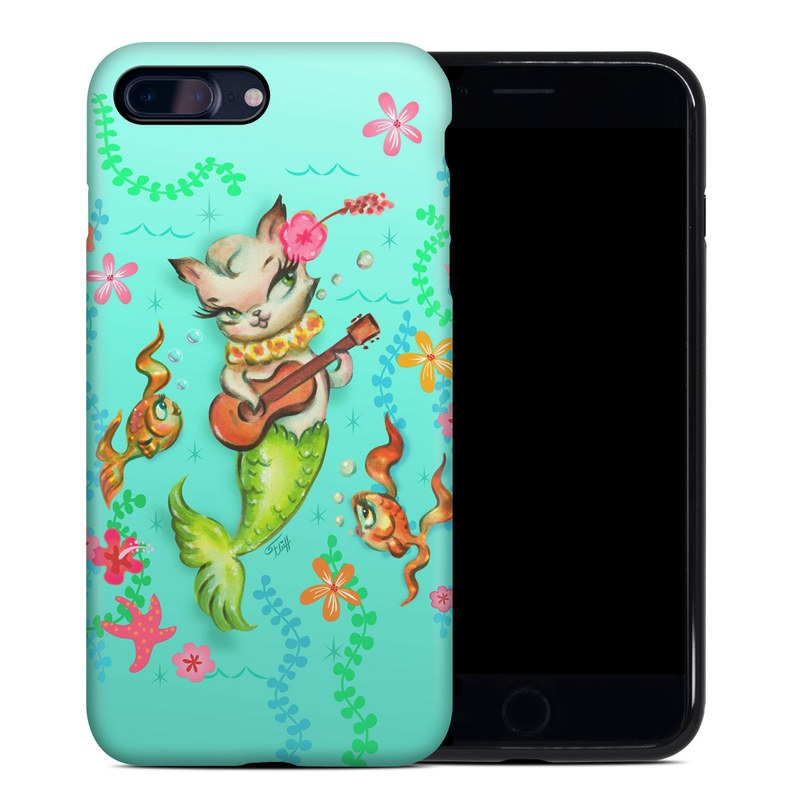 iPhone 8 Plus Hybrid Case design of Fictional character, Illustration, Mermaid, Mythical creature, Clip art, Art with blue, green, pink, yellow, orange, white, gray, brown colors