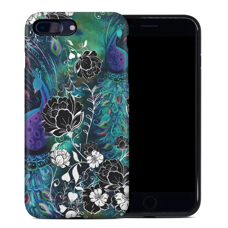 Peacock Garden iPhone 8 Plus Hybrid Case
