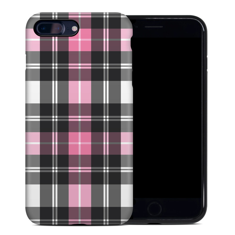 Pink Plaid iPhone 8 Plus Hybrid Case