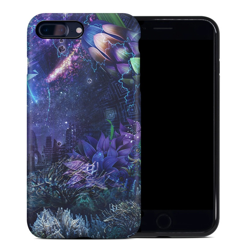 iPhone 8 Plus Hybrid Case design of Blue, Purple, Violet, Lavender, Majorelle blue, Psychedelic art, Electric blue, Organism, Art, Design with blue, green, purple, red, pink colors
