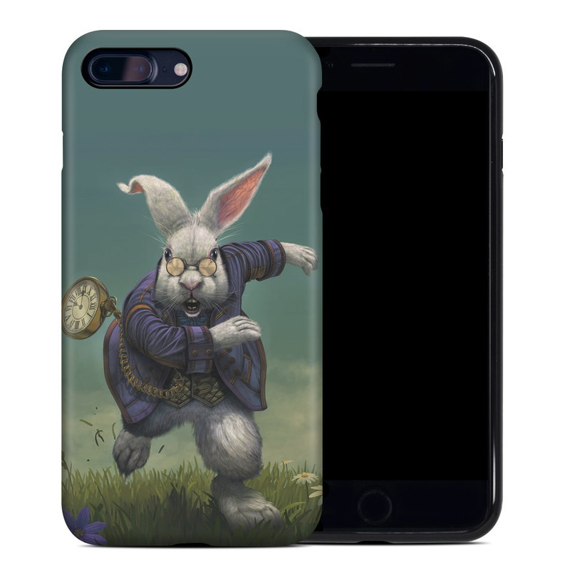 iPhone 8 Plus Hybrid Case design of Rabbit, Illustration, Rabbits and Hares, Grass, Hare, Screenshot, Meadow, Easter bunny, Plant, Massively multiplayer online role-playing game with blue, gray, black, green colors