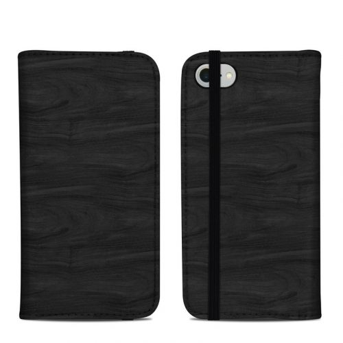 Black Woodgrain iPhone 8 Folio Case