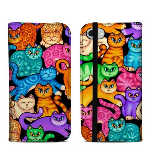 Colorful Kittens iPhone 8 Folio Case