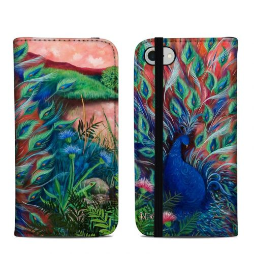 Coral Peacock IPhone 8 Skin