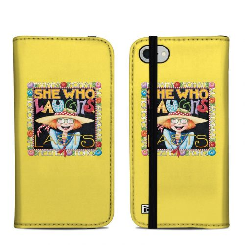 She Who Laughs iPhone 8 Folio Case