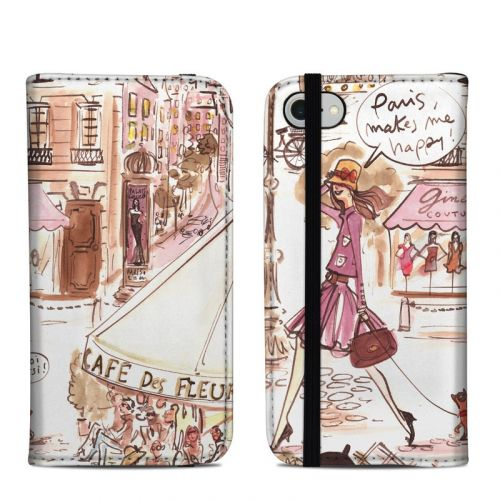 Paris Makes Me Happy iPhone 8 Folio Case
