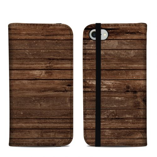 Stripped Wood iPhone 8 Folio Case