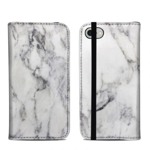 White Marble iPhone 8 Folio Case