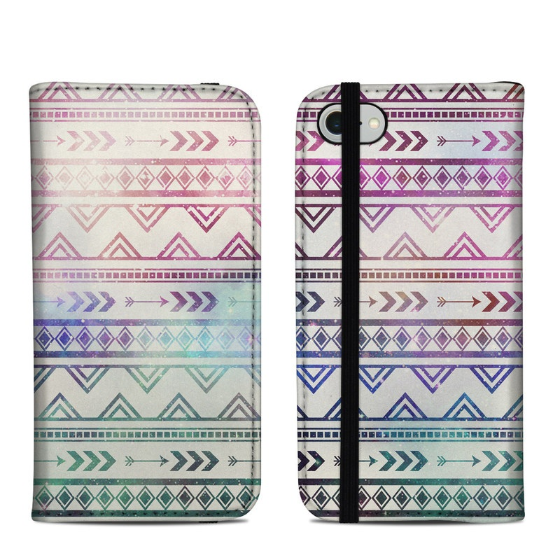 iPhone 8 Folio Case design of Pattern, Line, Teal, Design, Textile with gray, pink, yellow, blue, black, purple colors
