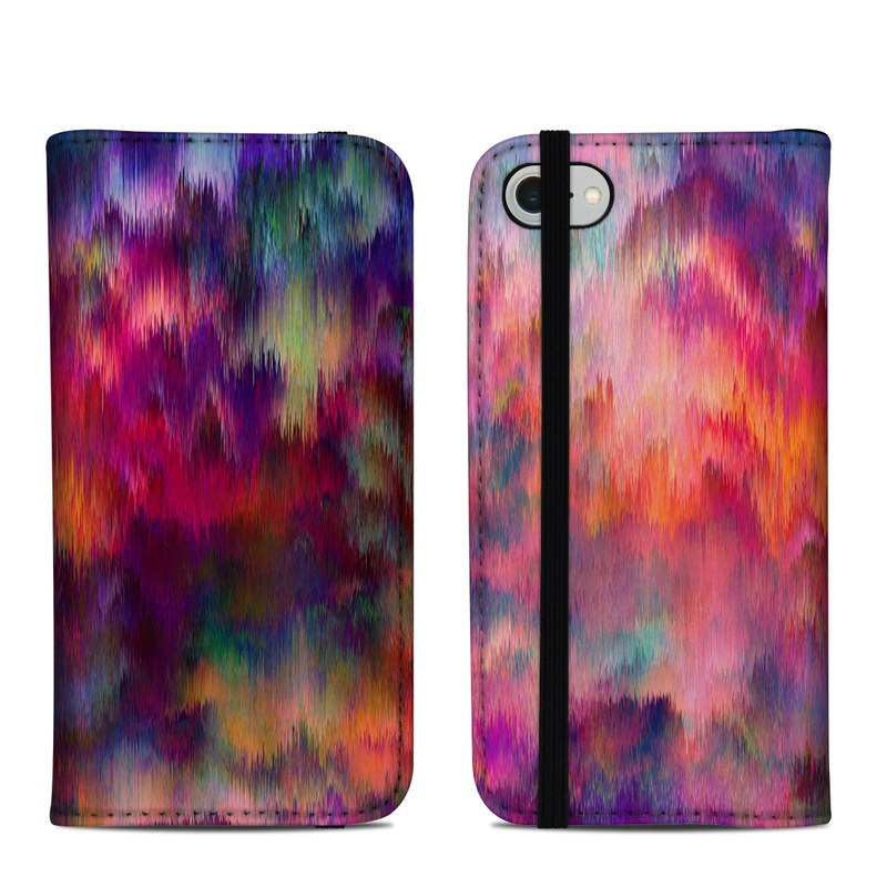 iPhone 8 Folio Case design of Sky, Purple, Pink, Blue, Violet, Painting, Watercolor paint, Lavender, Cloud, Art with red, blue, purple, orange, green colors