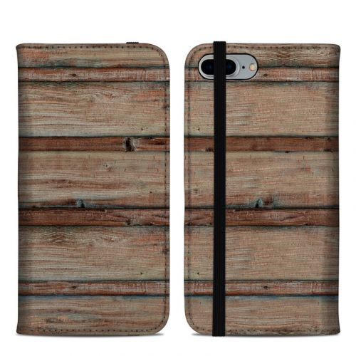 Boardwalk Wood iPhone 8 Plus Folio Case