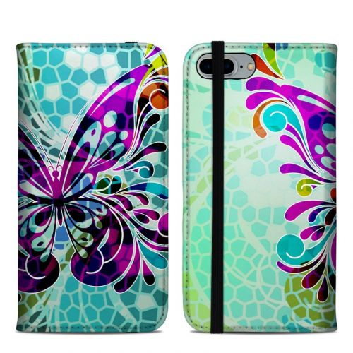 Butterfly Glass iPhone 8 Plus Folio Case