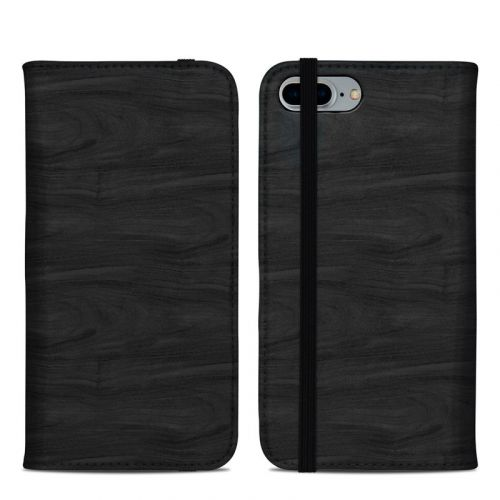 Black Woodgrain iPhone 8 Plus Folio Case