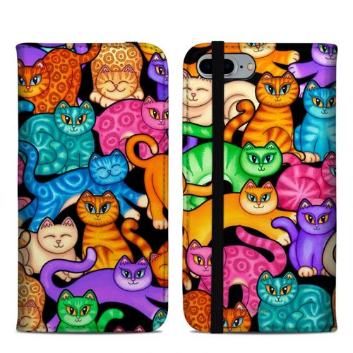 Colorful Kittens iPhone 8 Plus Folio Case