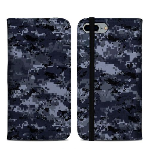 Digital Navy Camo iPhone 8 Plus Folio Case