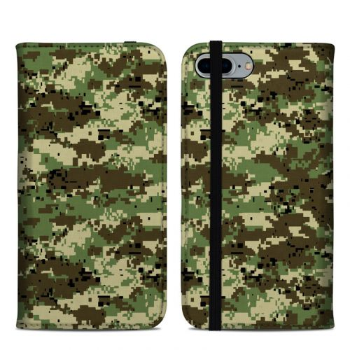 Digital Woodland Camo iPhone 8 Plus Folio Case