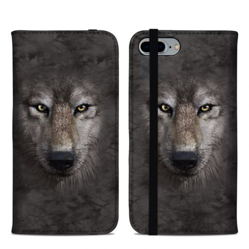 Grey Wolf iPhone 8 Plus Folio Case