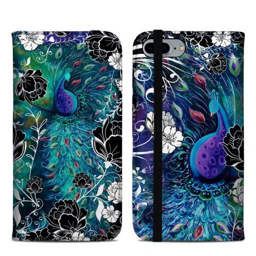 Peacock Garden iPhone 8 Plus Folio Case