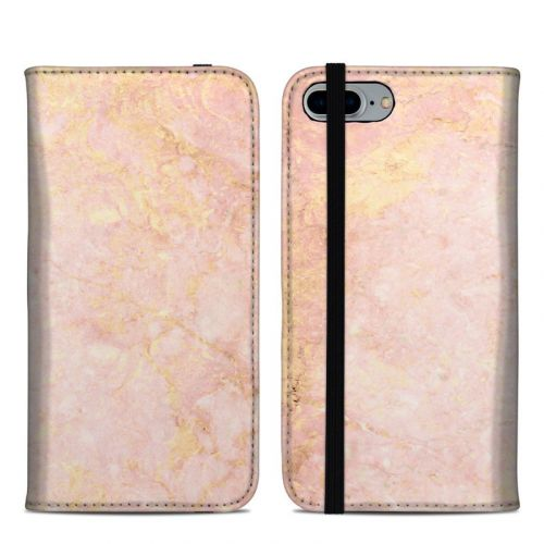 Rose Gold Marble iPhone 8 Plus Folio Case