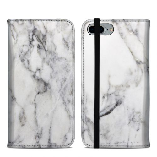 White Marble iPhone 8 Plus Folio Case