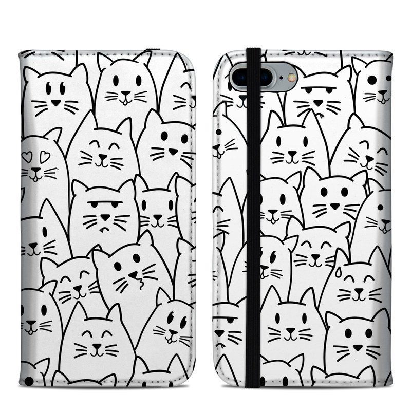 Moody Cats iPhone 8 Plus Folio Case