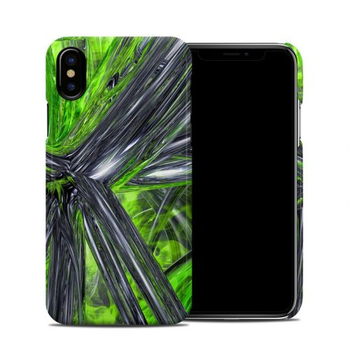 Emerald Abstract iPhone XS Clip Case