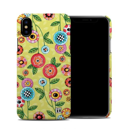 Button Flowers iPhone X Clip Case