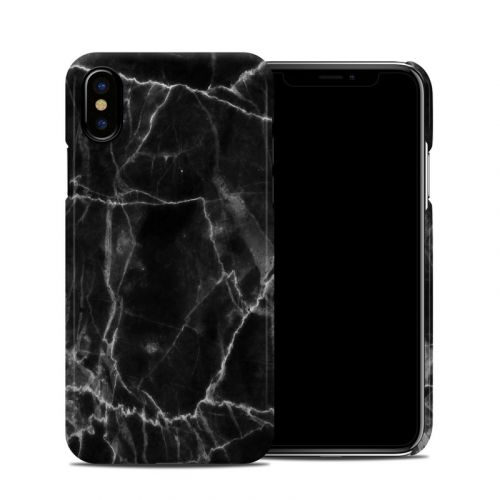 Black Marble iPhone X Clip Case