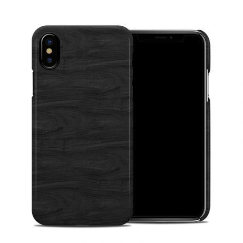 Black Woodgrain iPhone X Clip Case