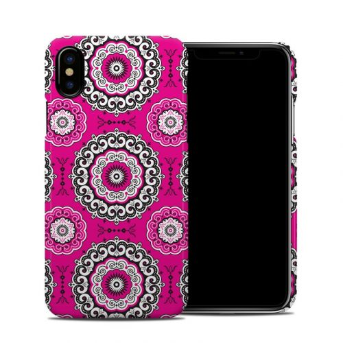 Boho Girl Medallions iPhone X Clip Case