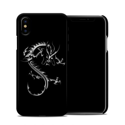 Chrome Dragon iPhone X Clip Case