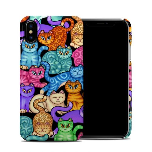 Colorful Kittens iPhone X Clip Case