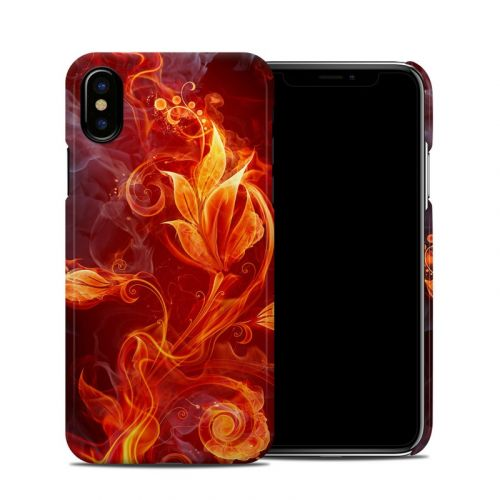 Flower Of Fire iPhone X Clip Case