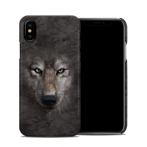 Grey Wolf iPhone XS Clip Case