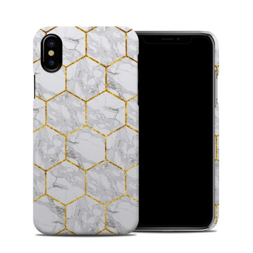 Honey Marble iPhone X Clip Case